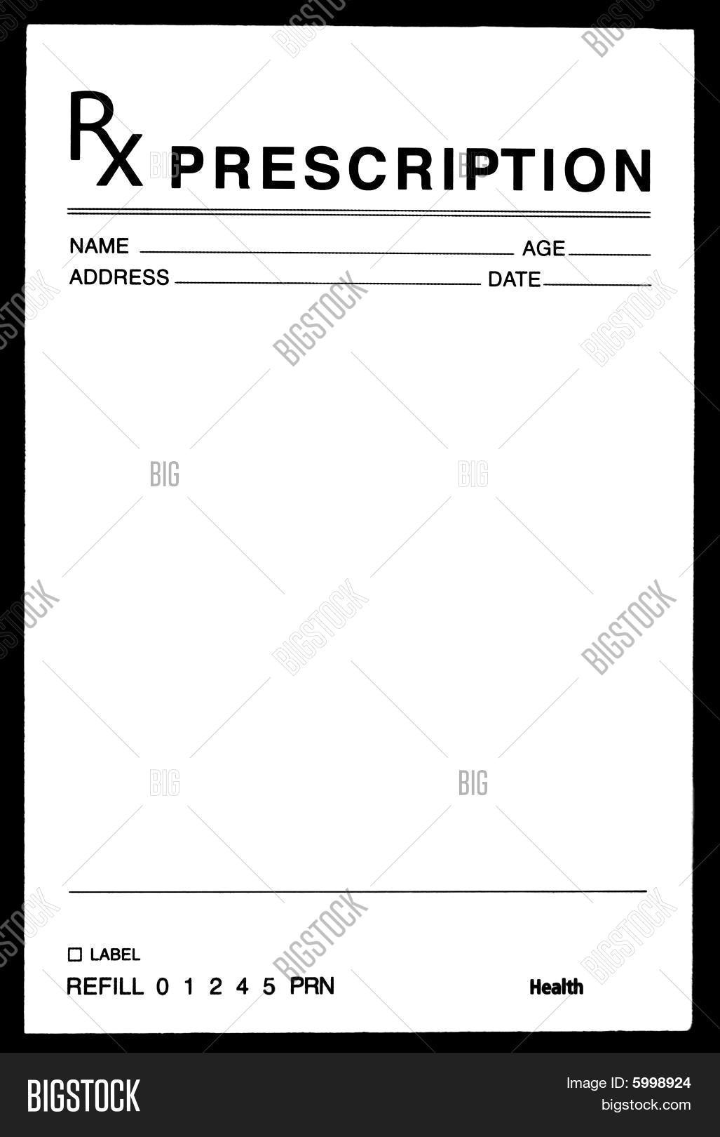 Blank Prescription Pad Template