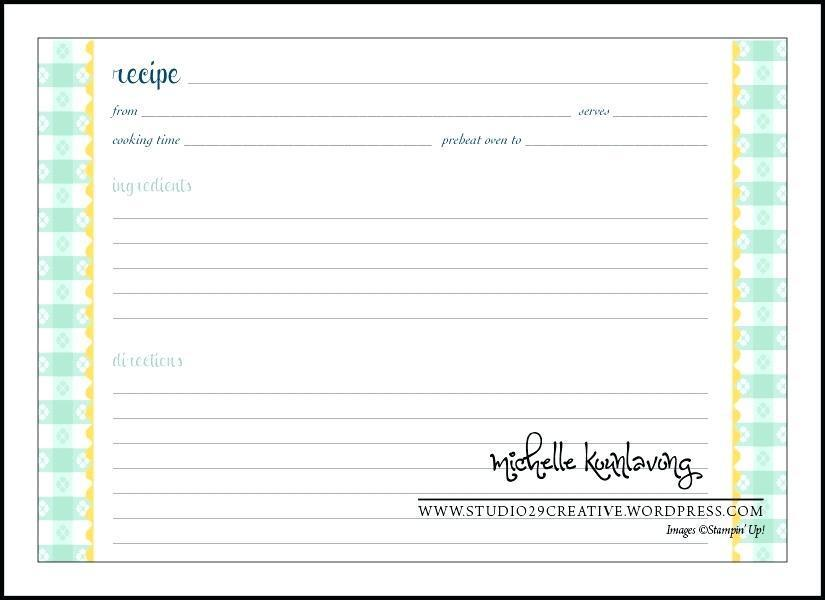 Blank Recipe Template Download