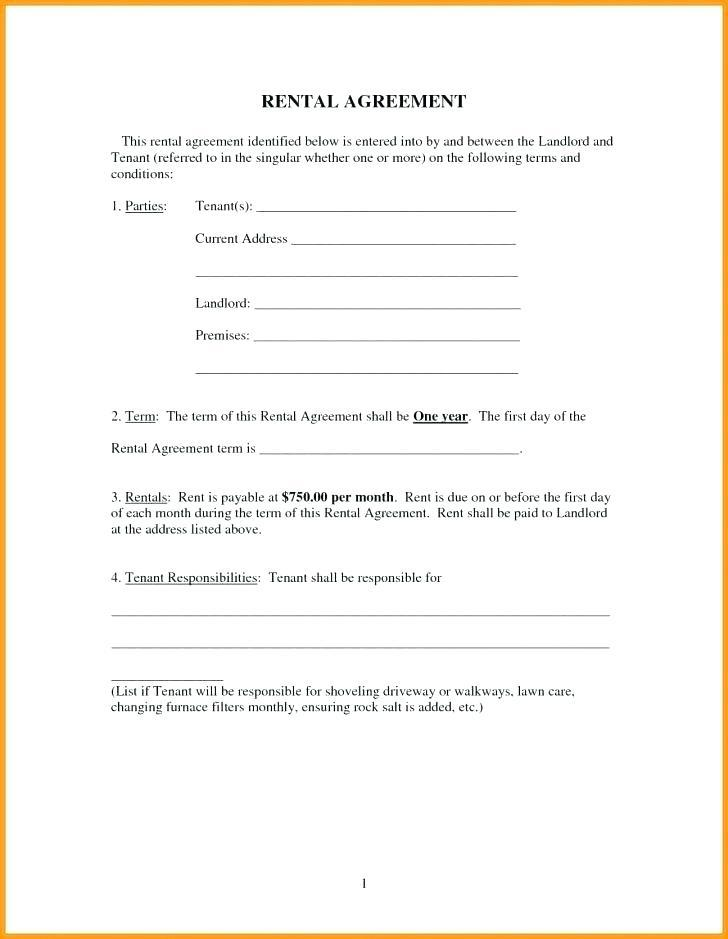 Blank Residential Lease Template