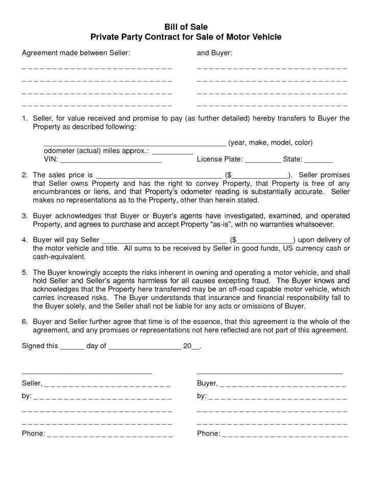 Blank Sales Contract Template