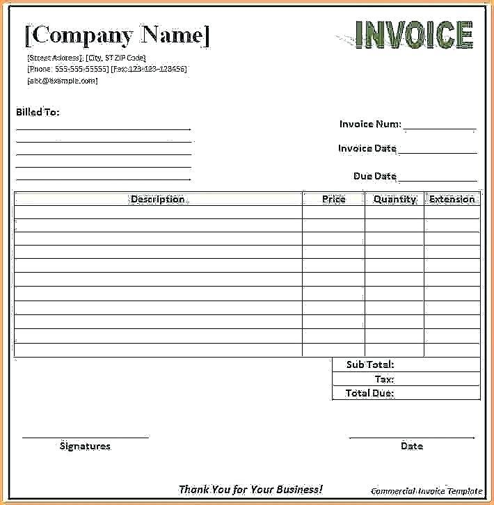 Blank Sales Receipts Templates