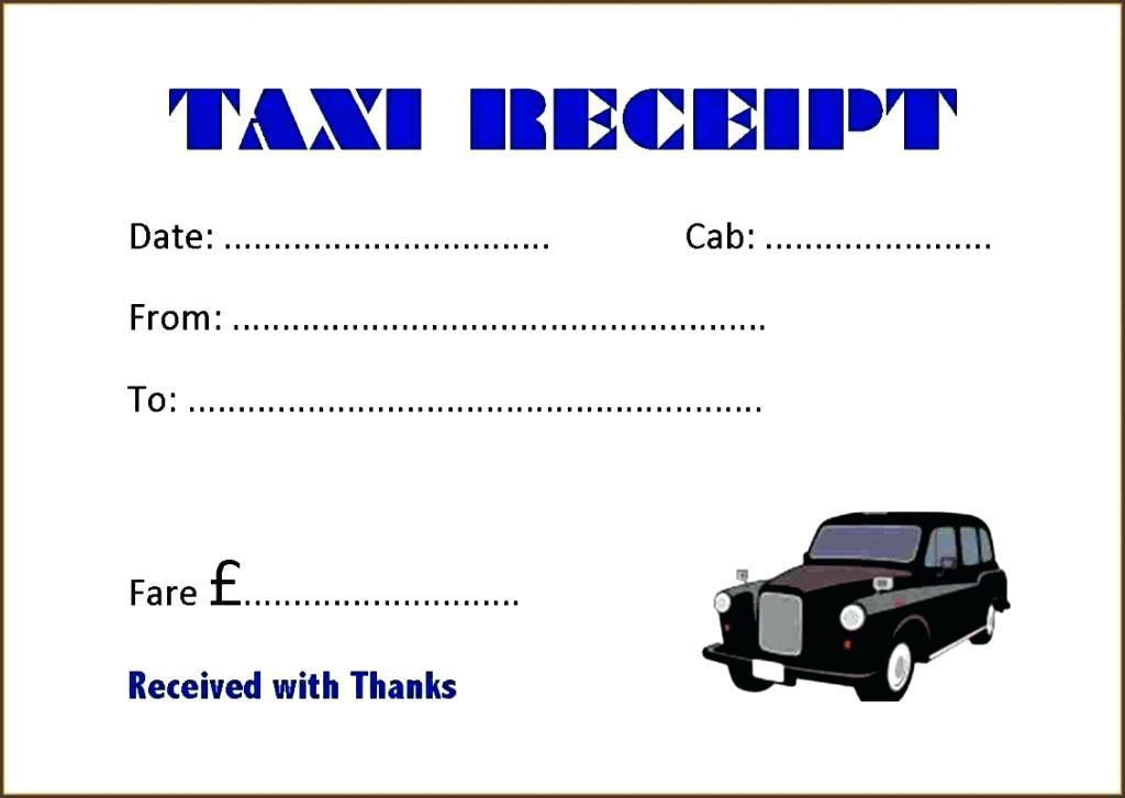 Blank Taxi Receipts Templates