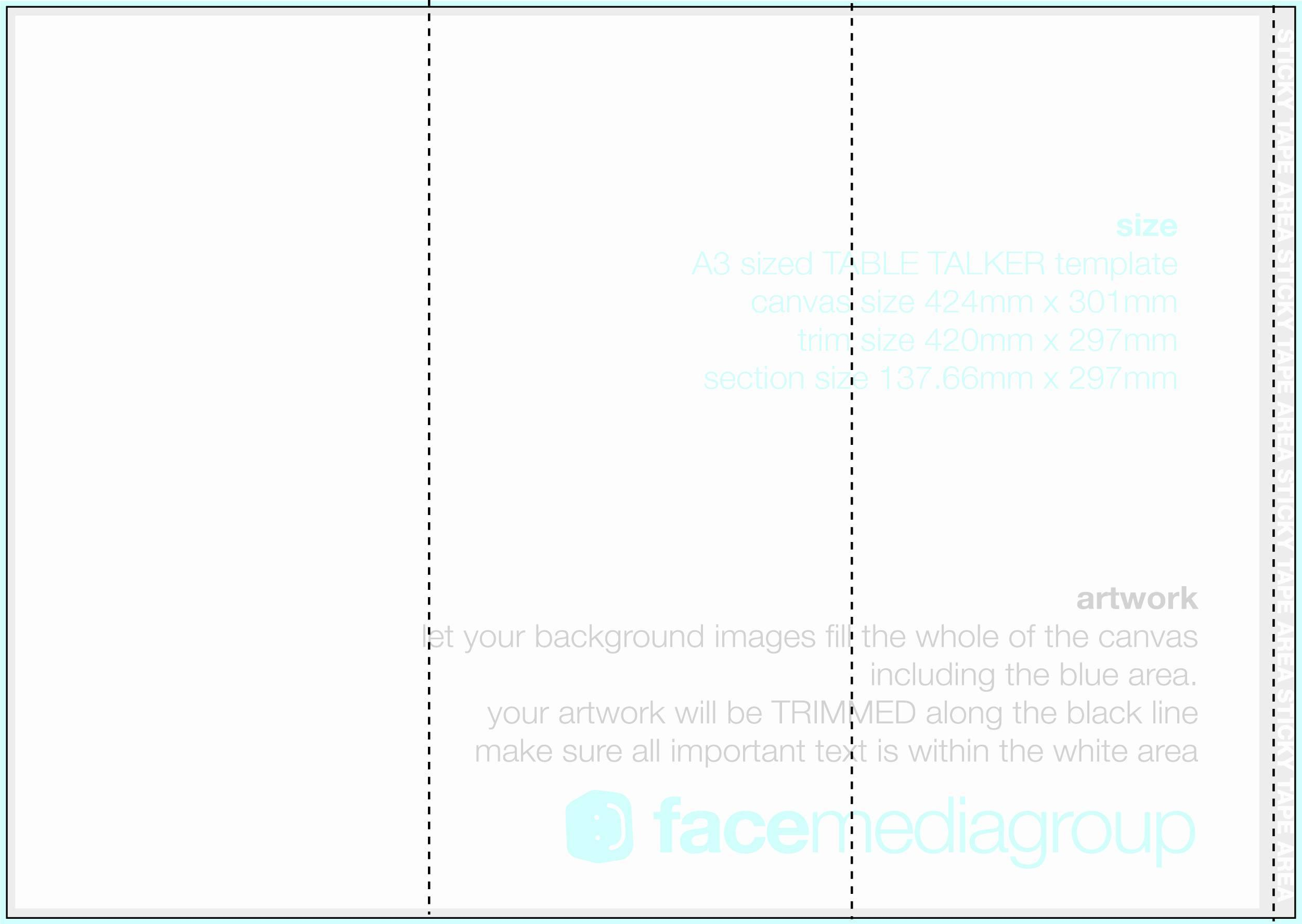 Blank Template For Tri Fold Brochure