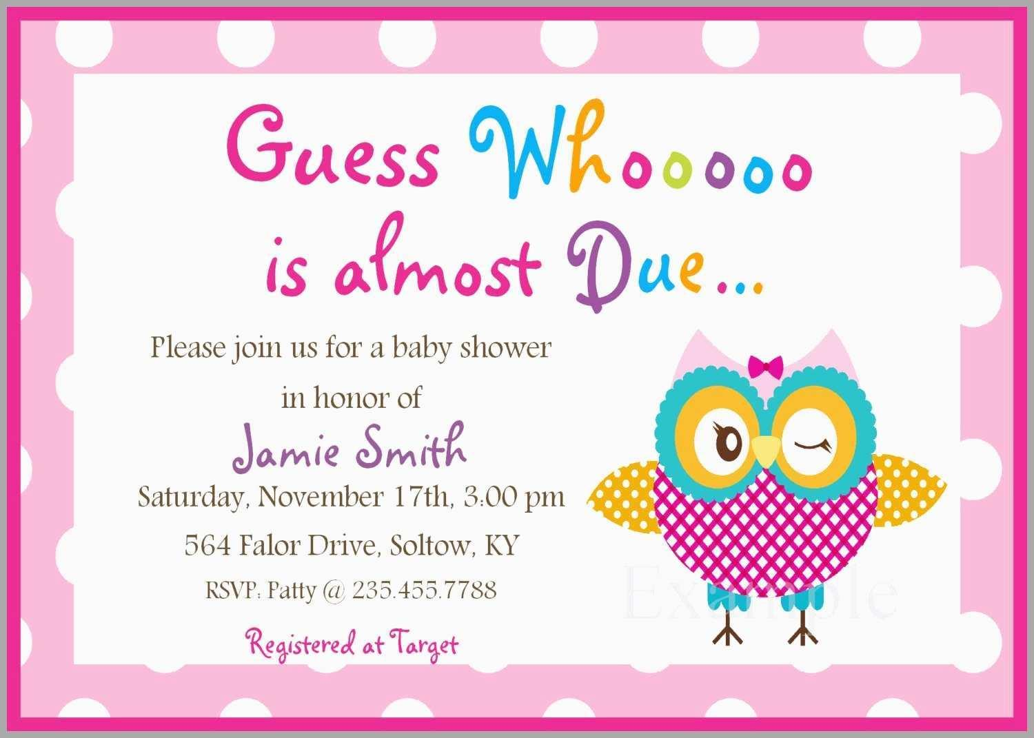 Blank Templates For Baby Shower Invitations