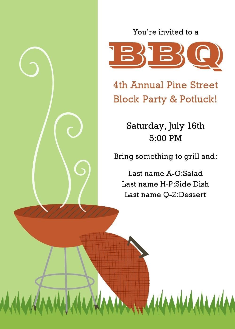 Block Party Invitation Free Template