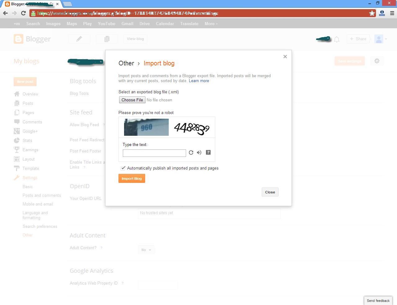 Blogger Xml Template Generator