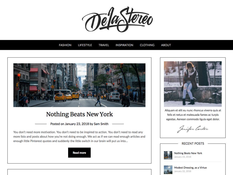 Blogging Theme WordPress Free