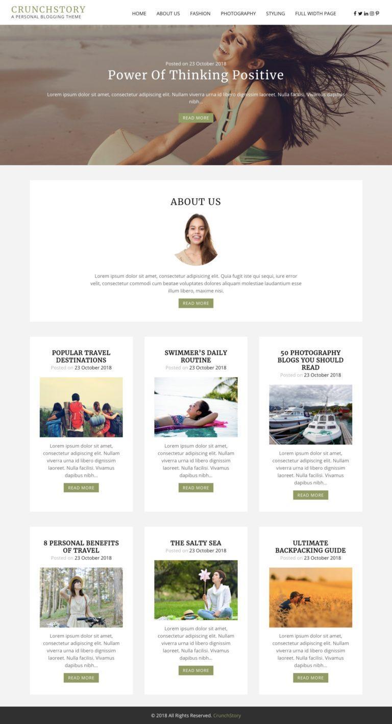Blogging Theme WordPress
