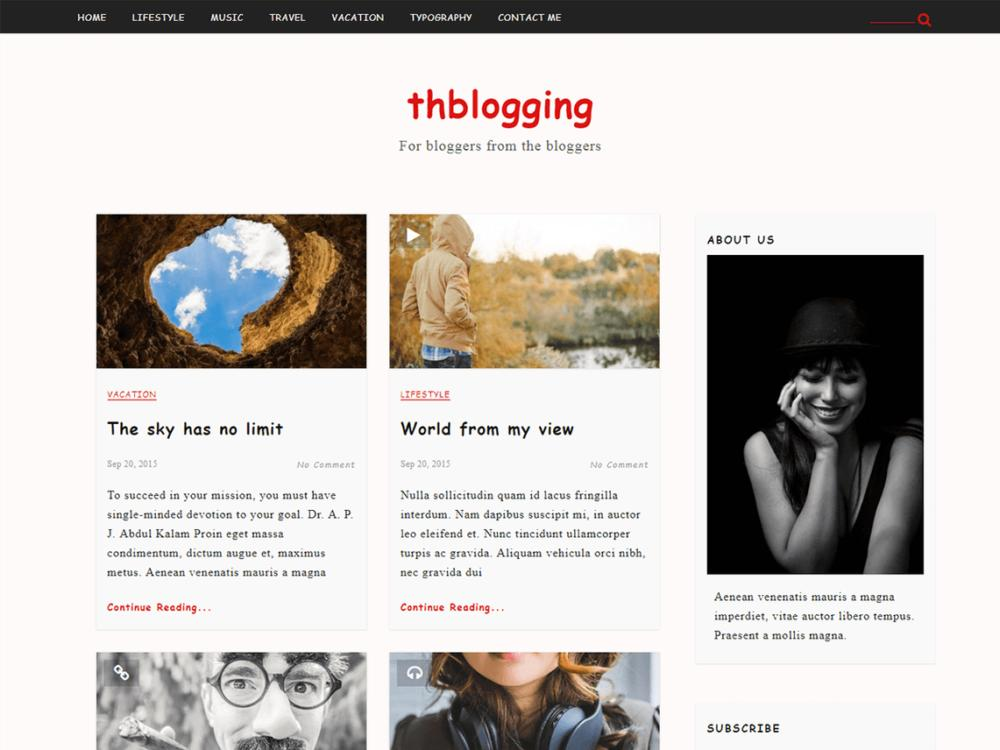 Blogging WordPress Theme Free Download