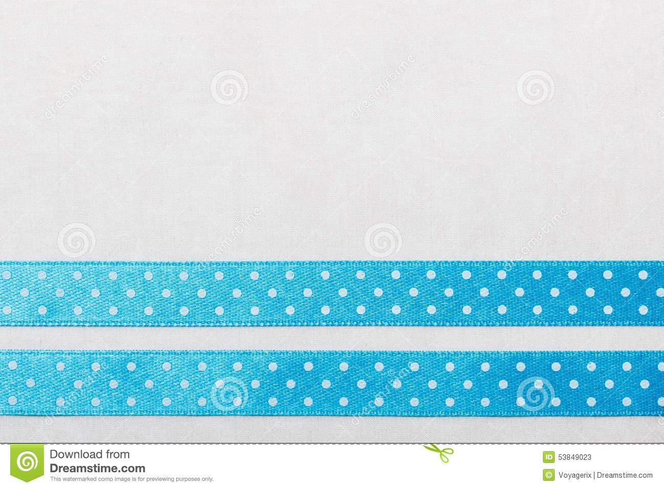 Blue Polka Dot Invitation Template