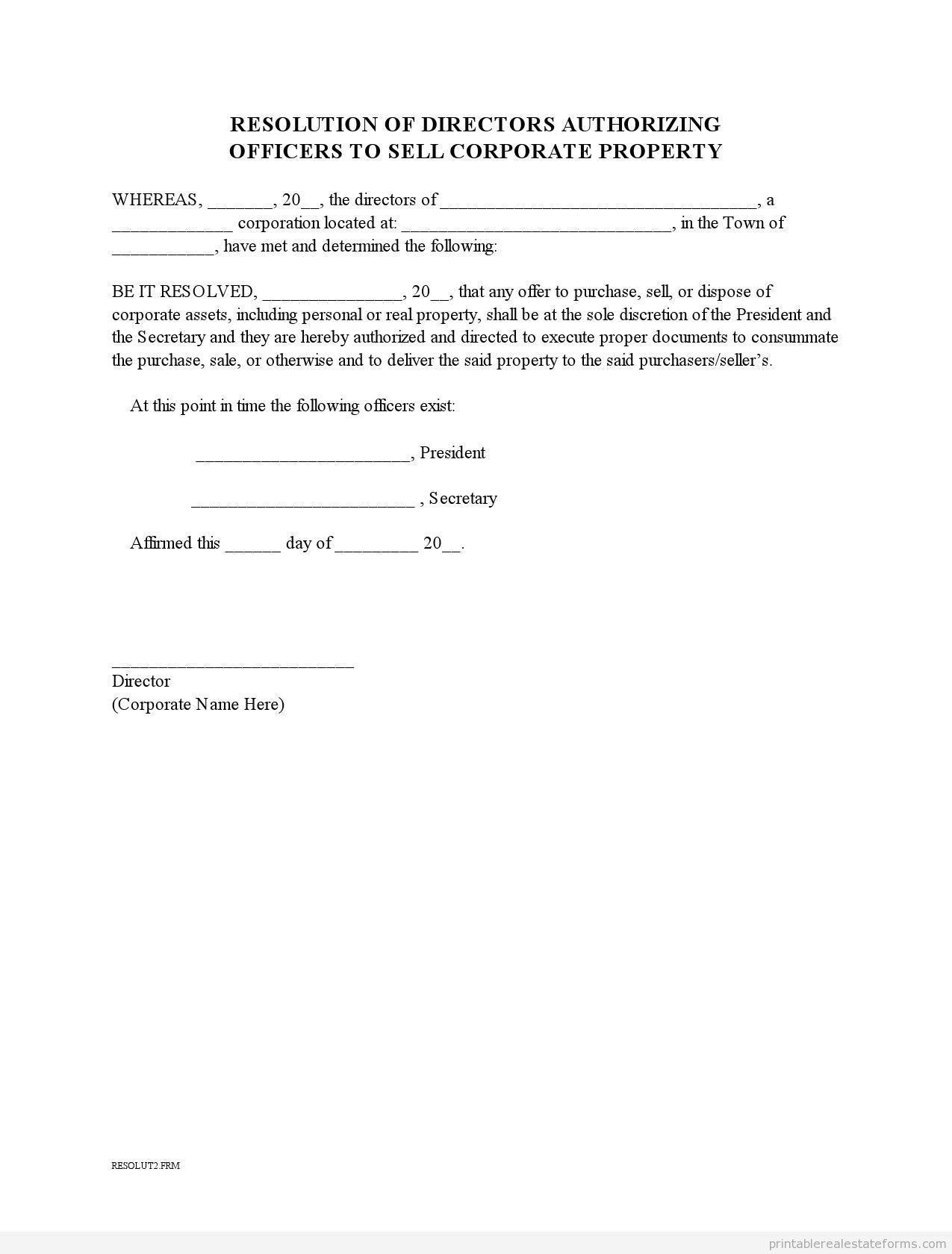 Board Of Trustees Resolution Format