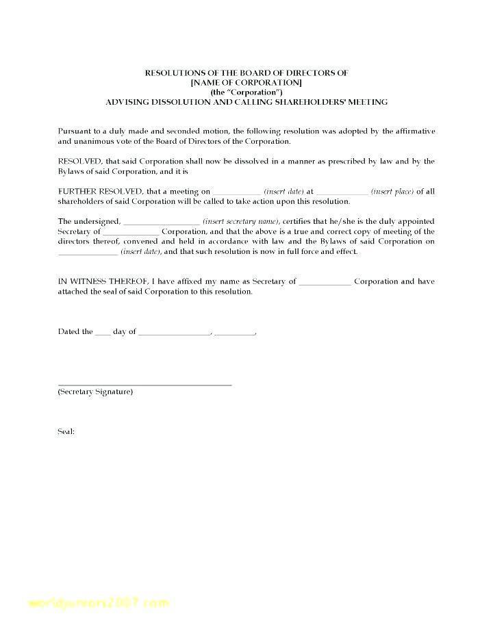 Board Resolution Template Free