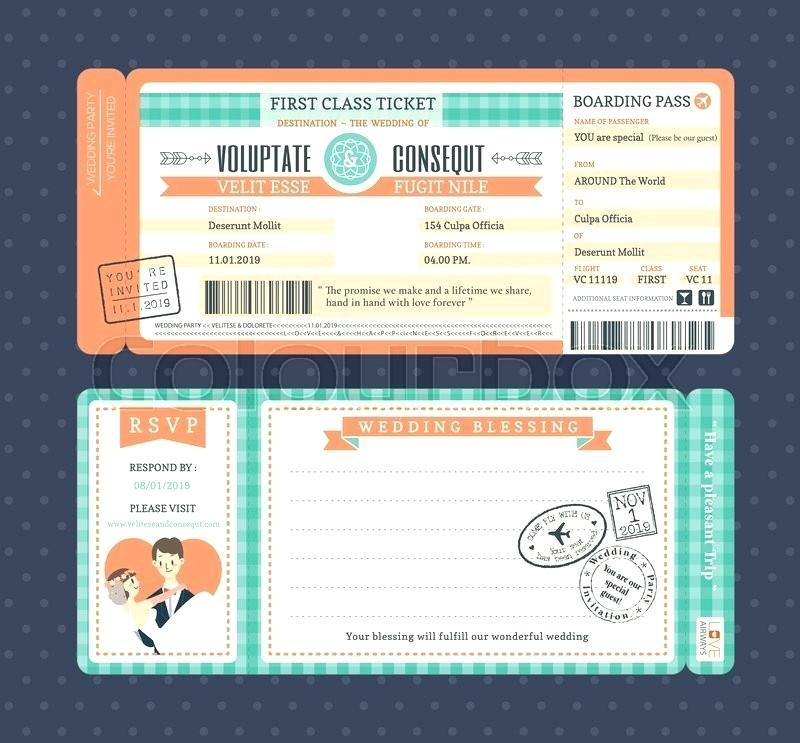 Boarding Pass Invitation Template Pdf