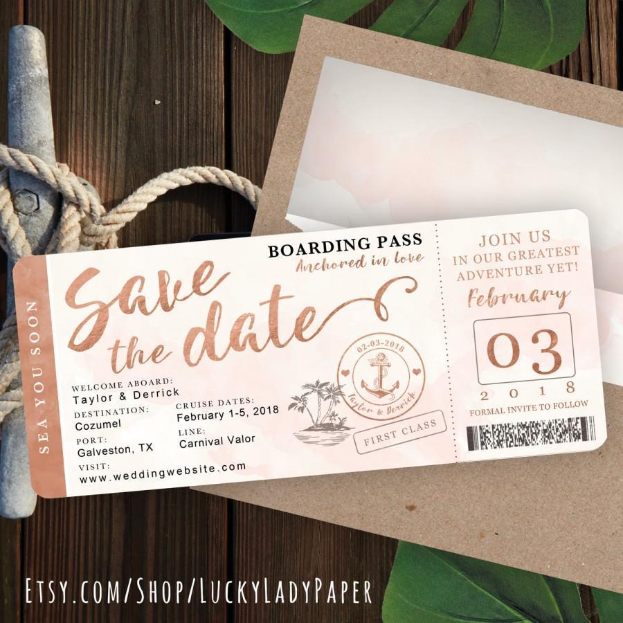 Boarding Pass Wedding Invitations Wording