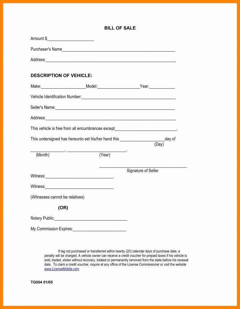 Boat Bill Of Sale Template Free Pdf Ontario