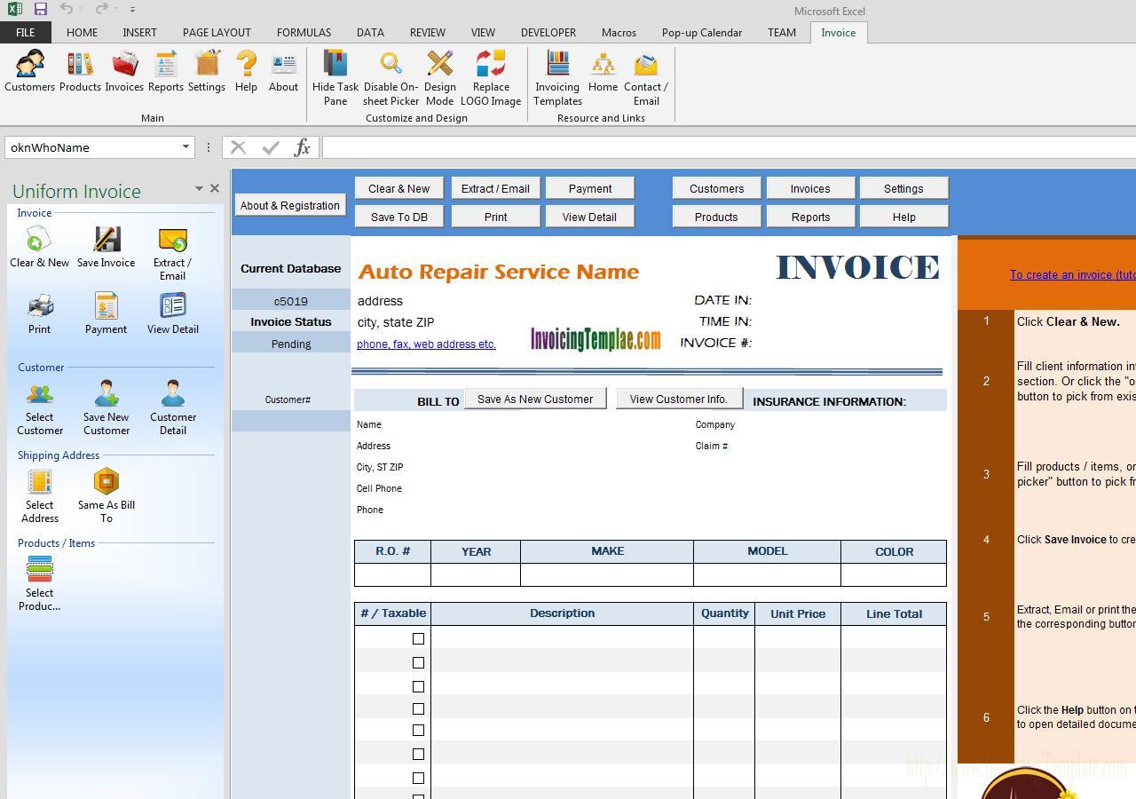 Boat Repair Invoice Template