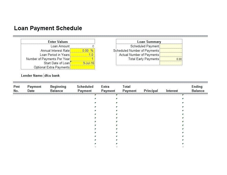 Bond Amortization Schedule Template