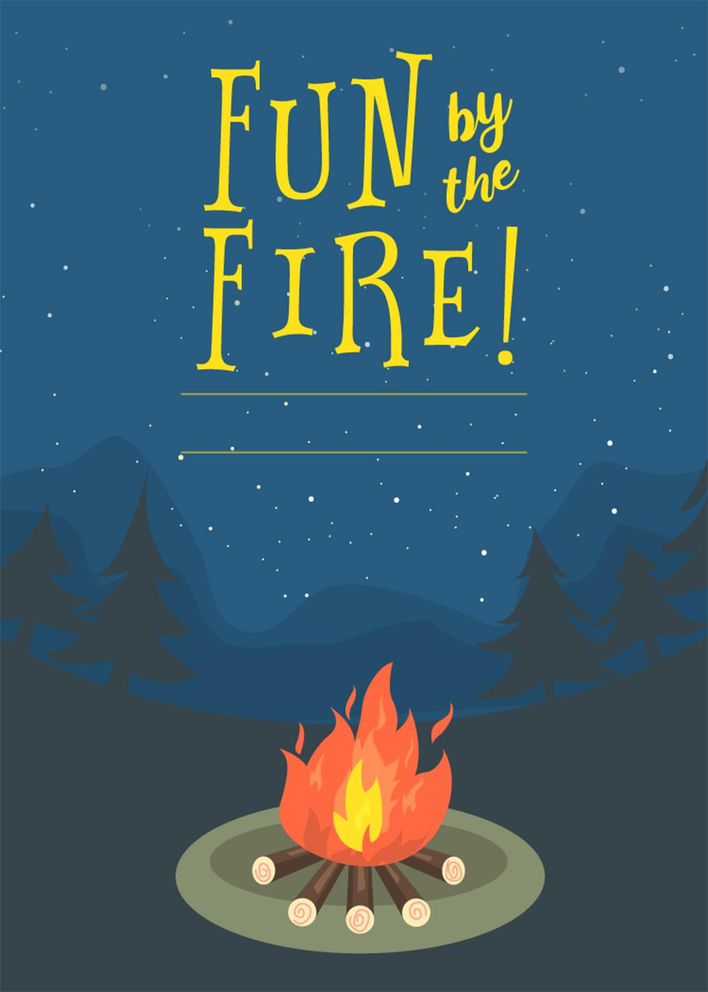Bonfire Night Invitation Templates