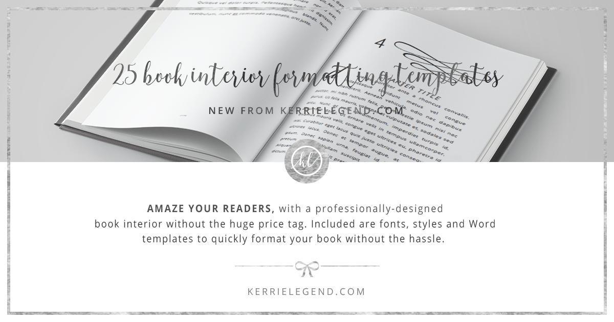 Book Formatting Templates