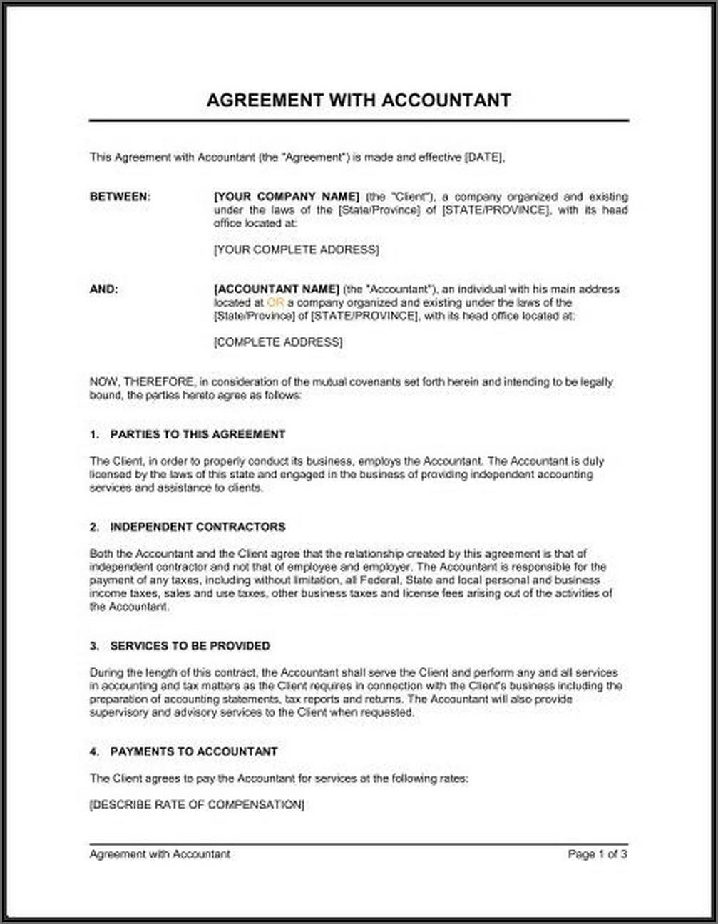 Bookkeeping Contract Template