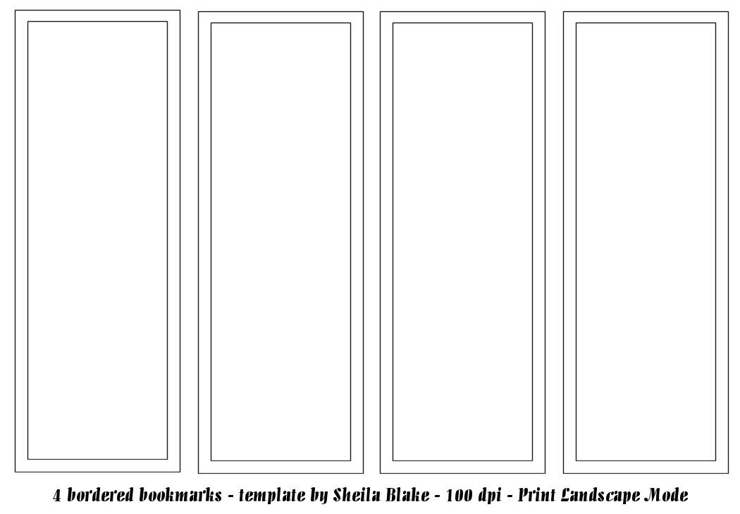 Bookmark Template Pdf