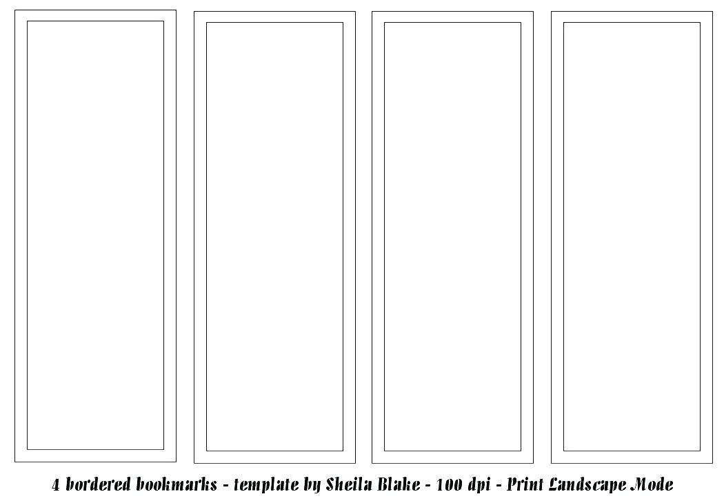 Bookmark Template Printable