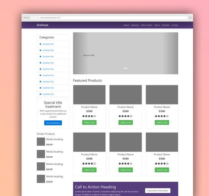 Bootstrap 3 Ecommerce Template Free Download