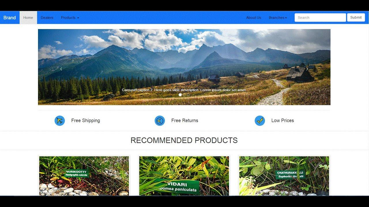 Bootstrap Ecommerce Template Tutorial
