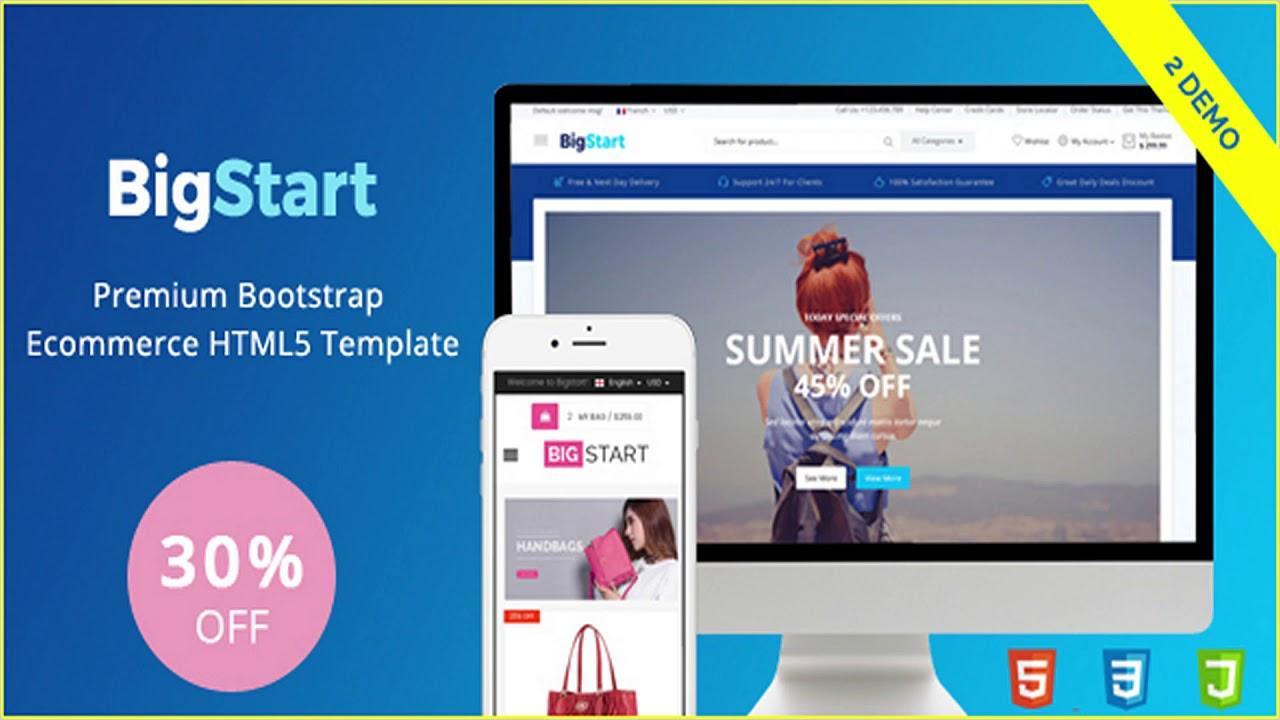 Bootstrap Ecommerce Templates Premium