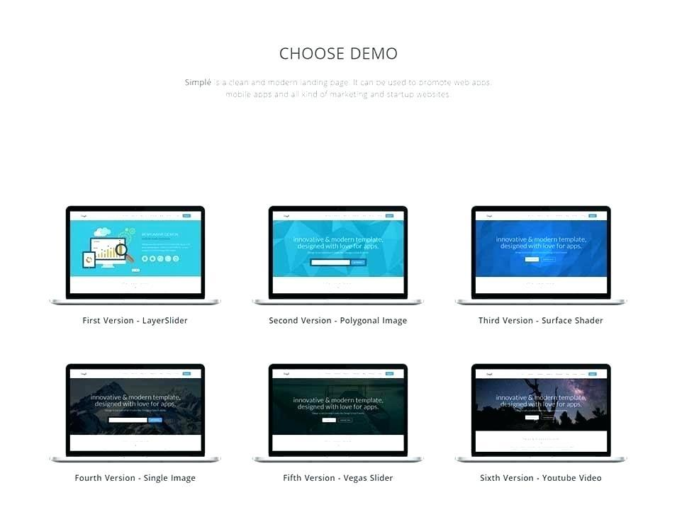 Bootstrap Landing Page Templates One Page