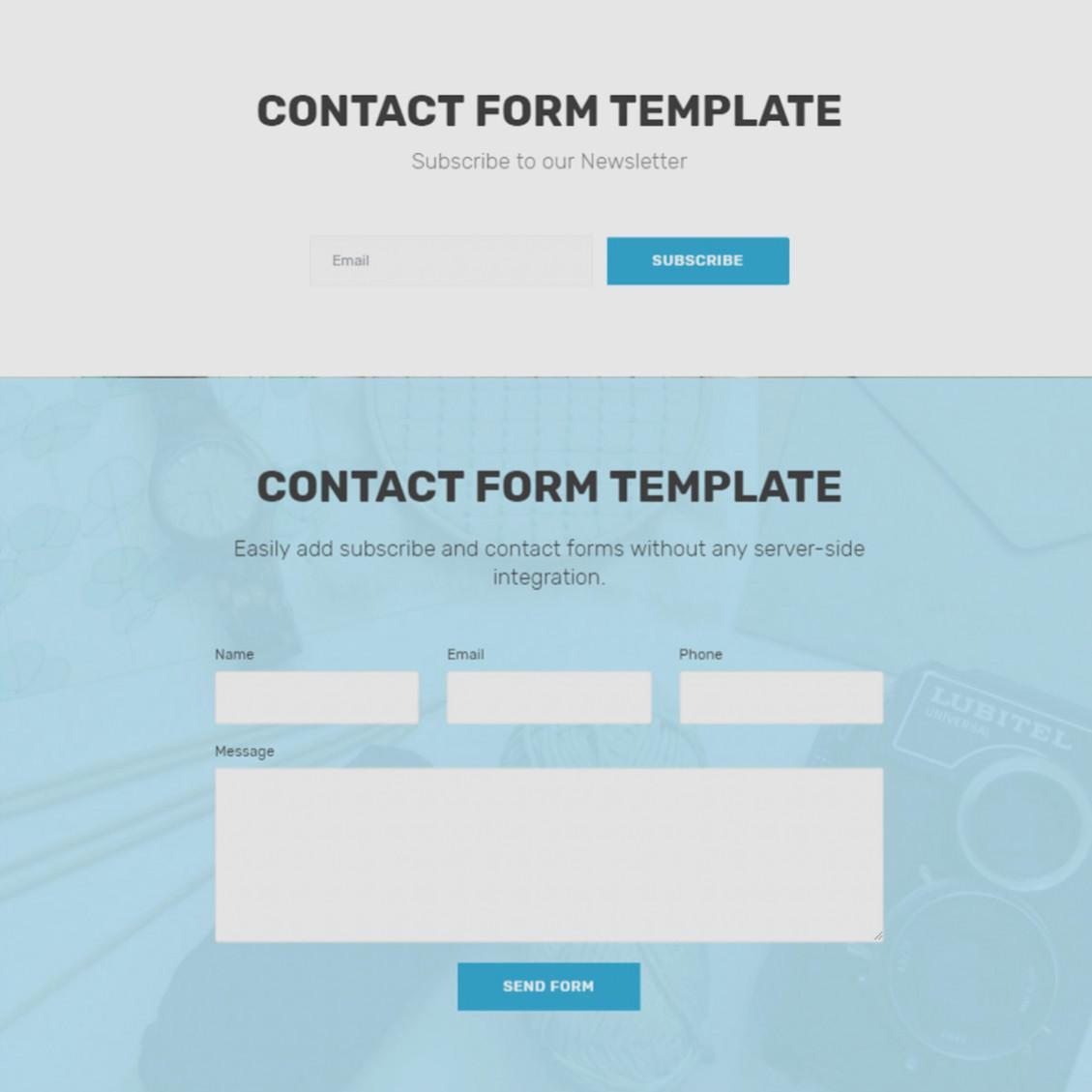 Bootstrap Newsletter Form Template