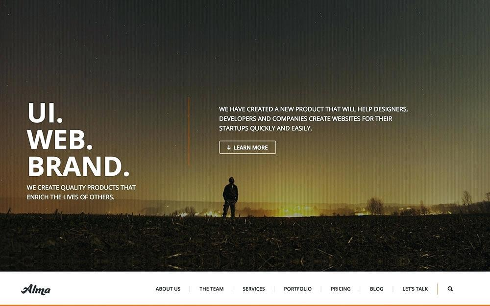 Bootstrap Parallax Website Template Free