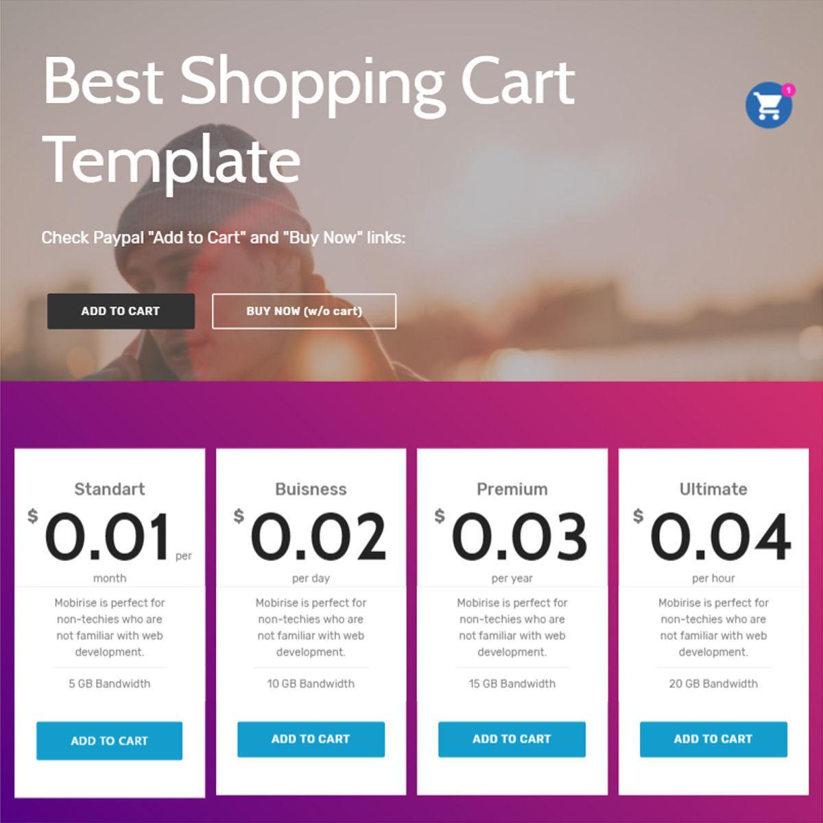 Bootstrap Shopping Cart Html Template