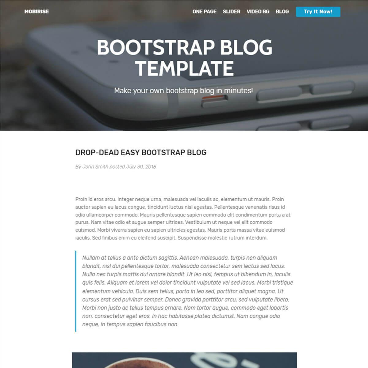 Bootstrap Shopping Cart Template Free