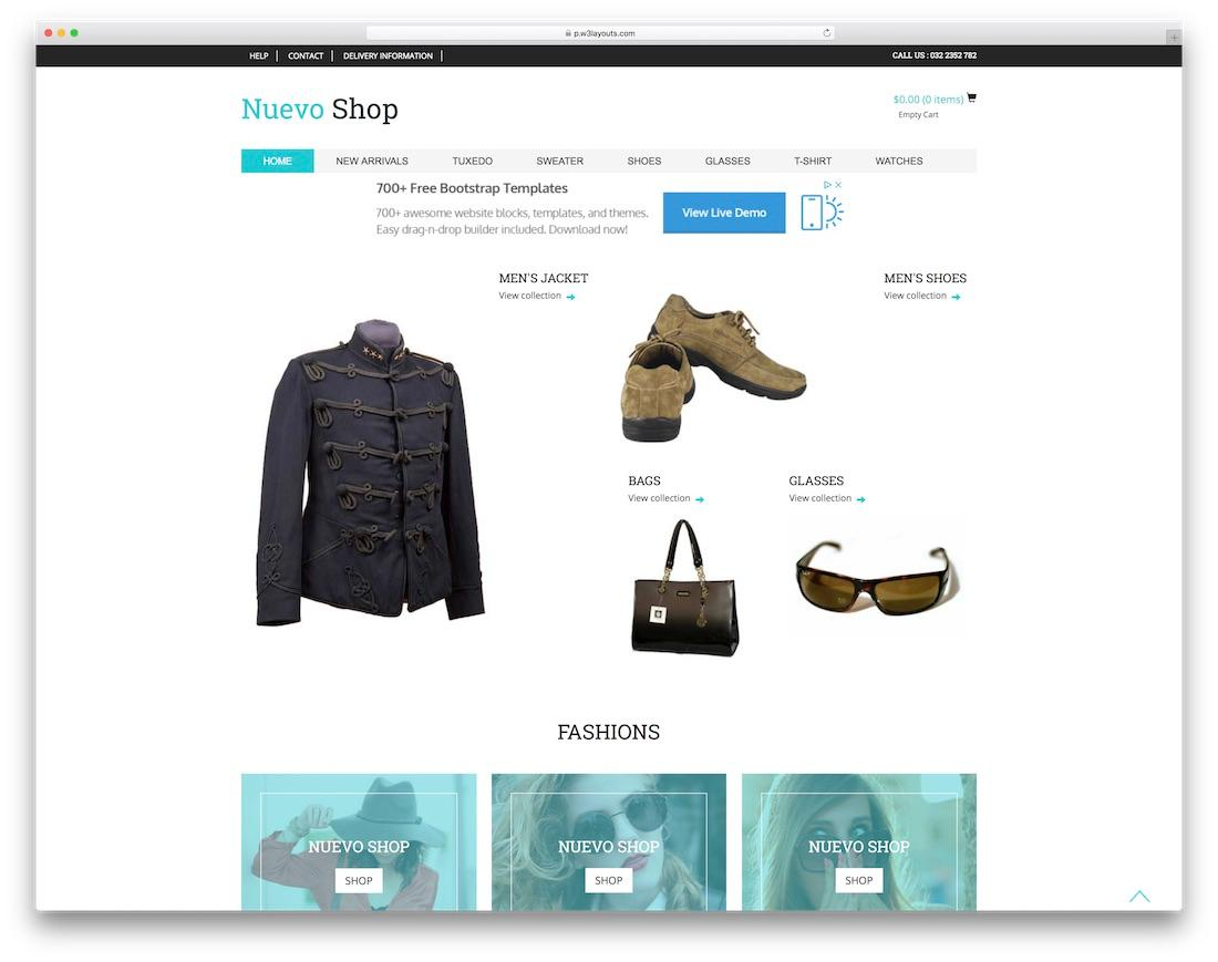 Bootstrap Template Ecommerce Free