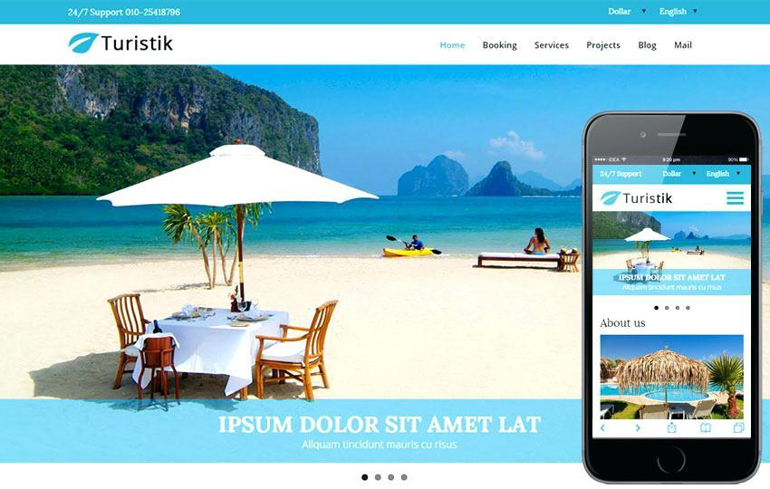Bootstrap Tourism Website Templates Free Download