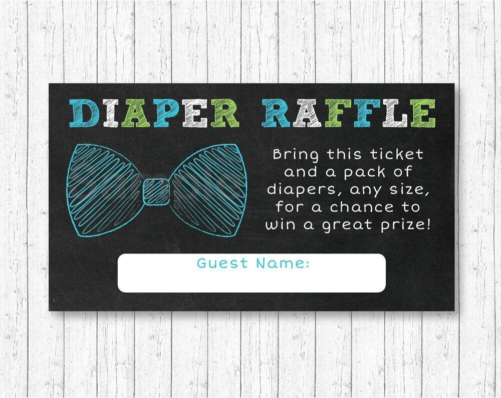 Bow Tie Diaper Raffle Template