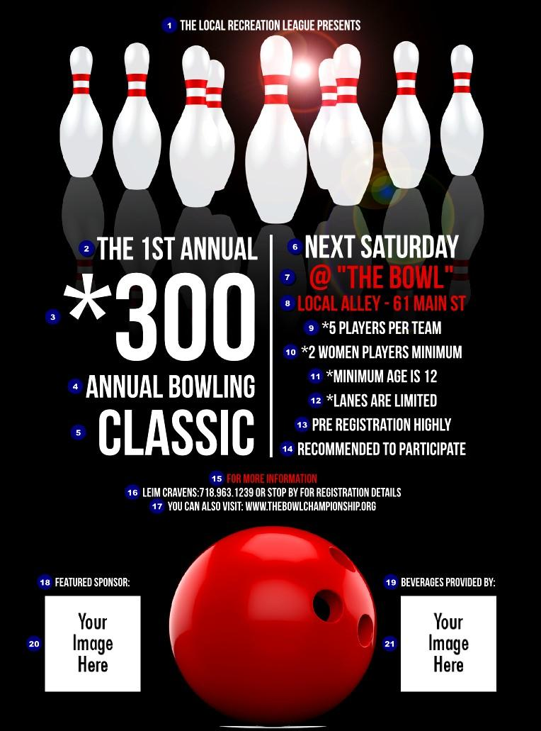 Bowling Flyer Template Free Word