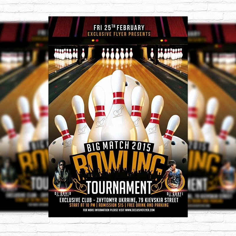 Bowling Flyers Templates Free
