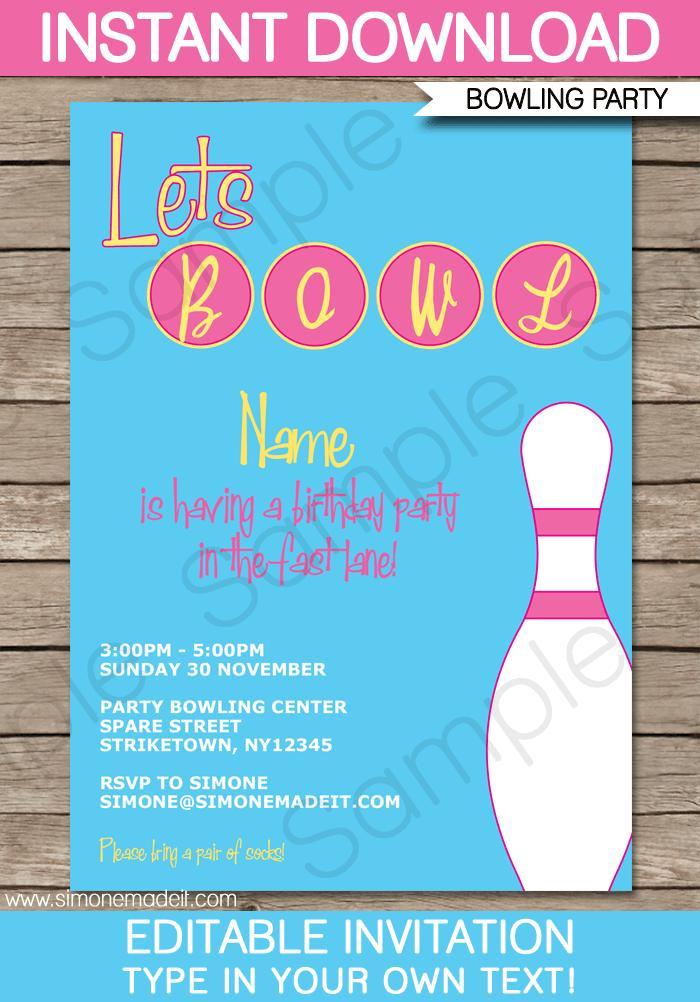 Bowling Night Invite Template