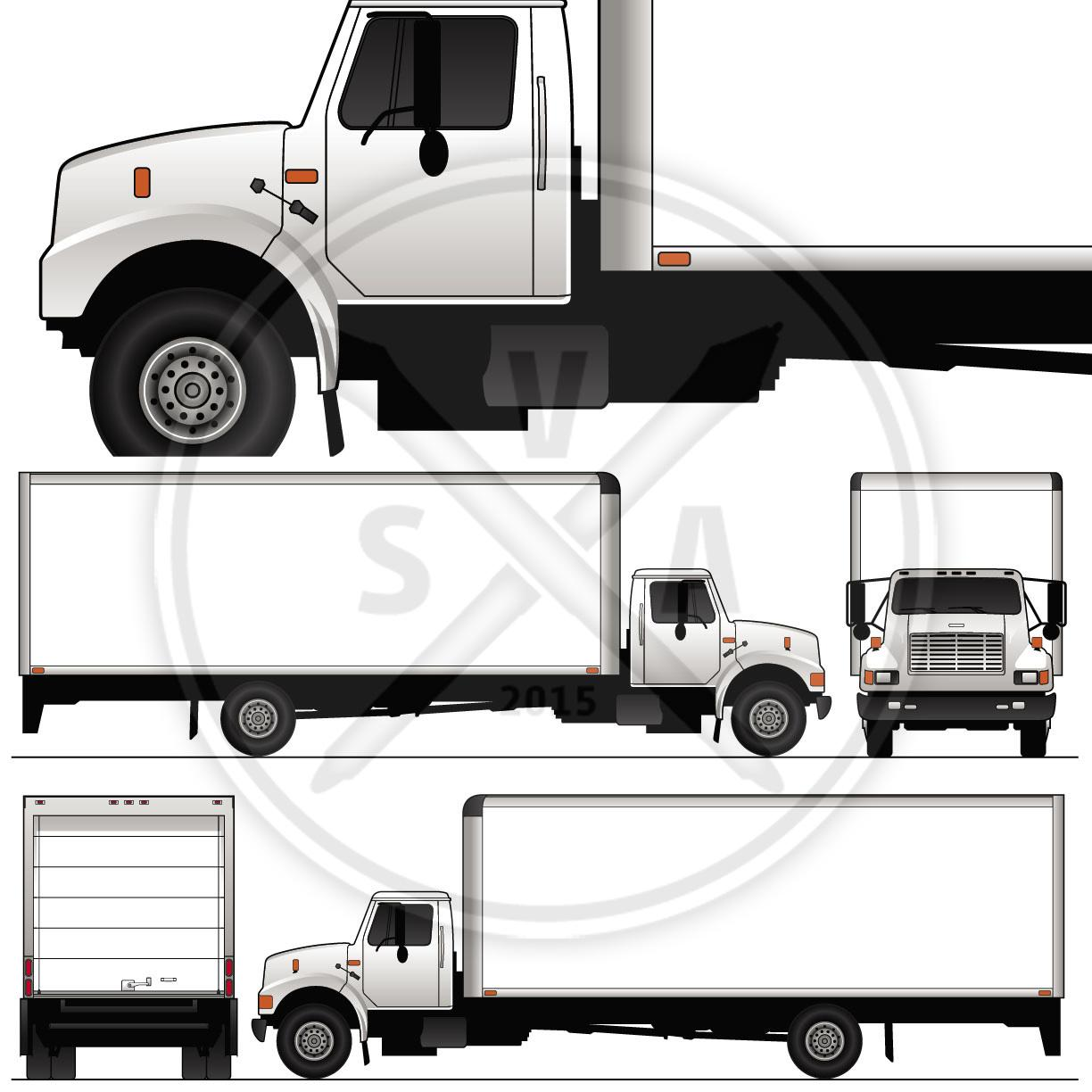 Box Truck Wrap Template