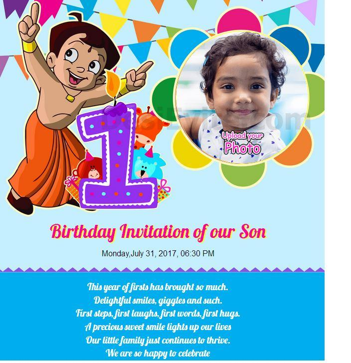 Boy Birthday Invitation Card Templates