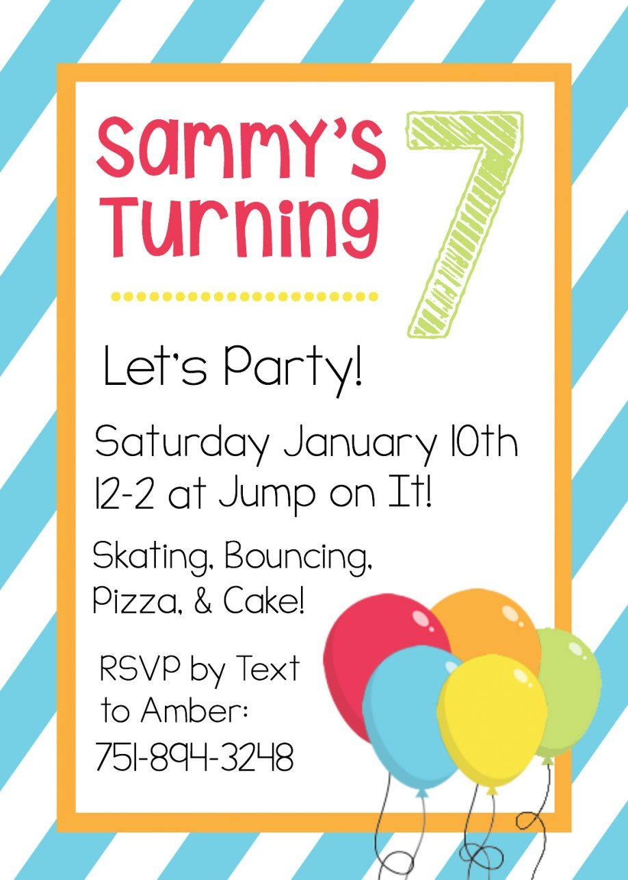 Boy Birthday Invitation Templates