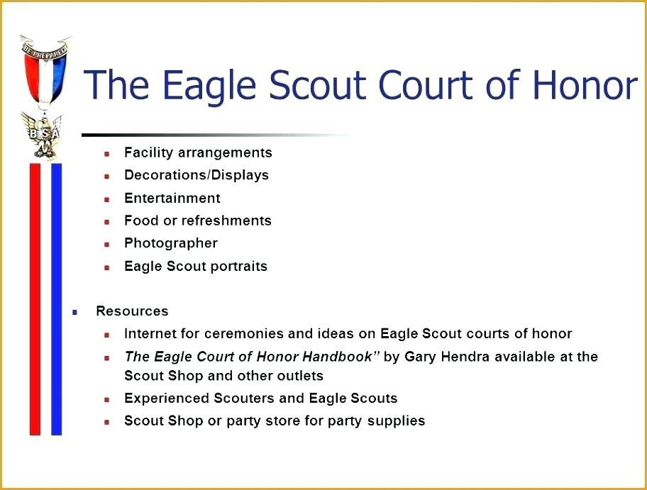 Boy Scout Court Of Honor Invitation Template