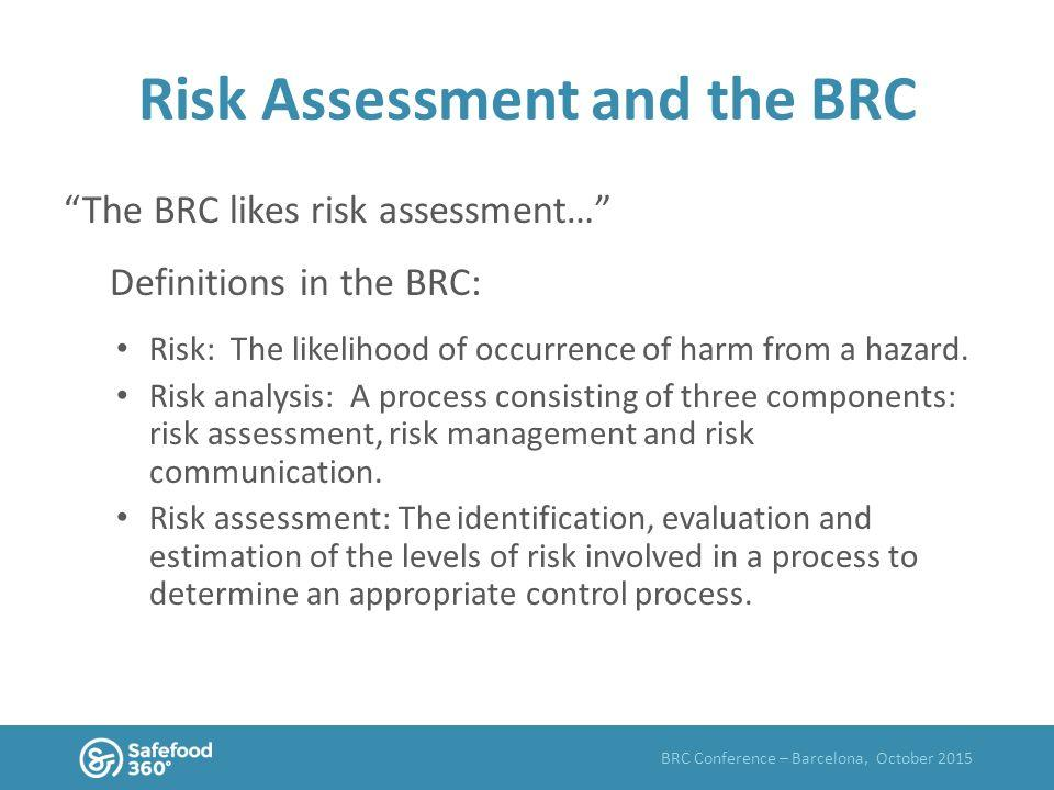 Brc Internal Audit Risk Assessment Template