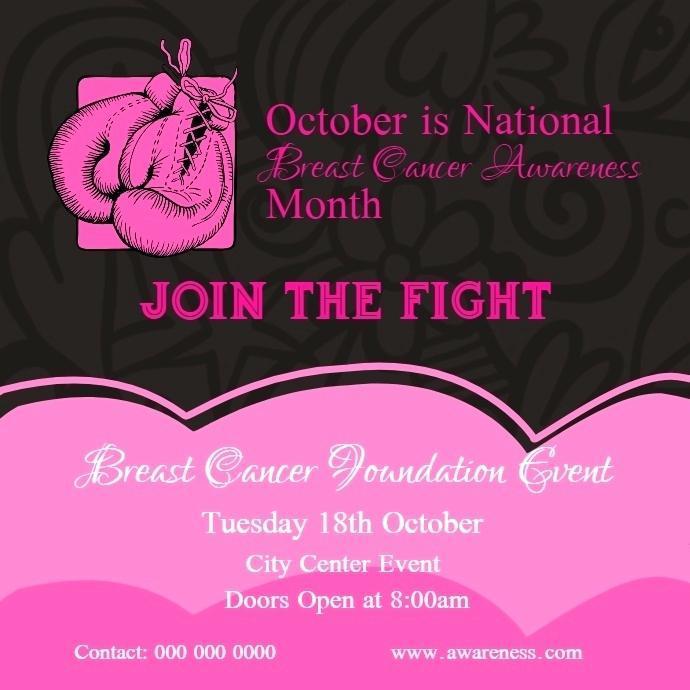 Breast Cancer Awareness Program Template