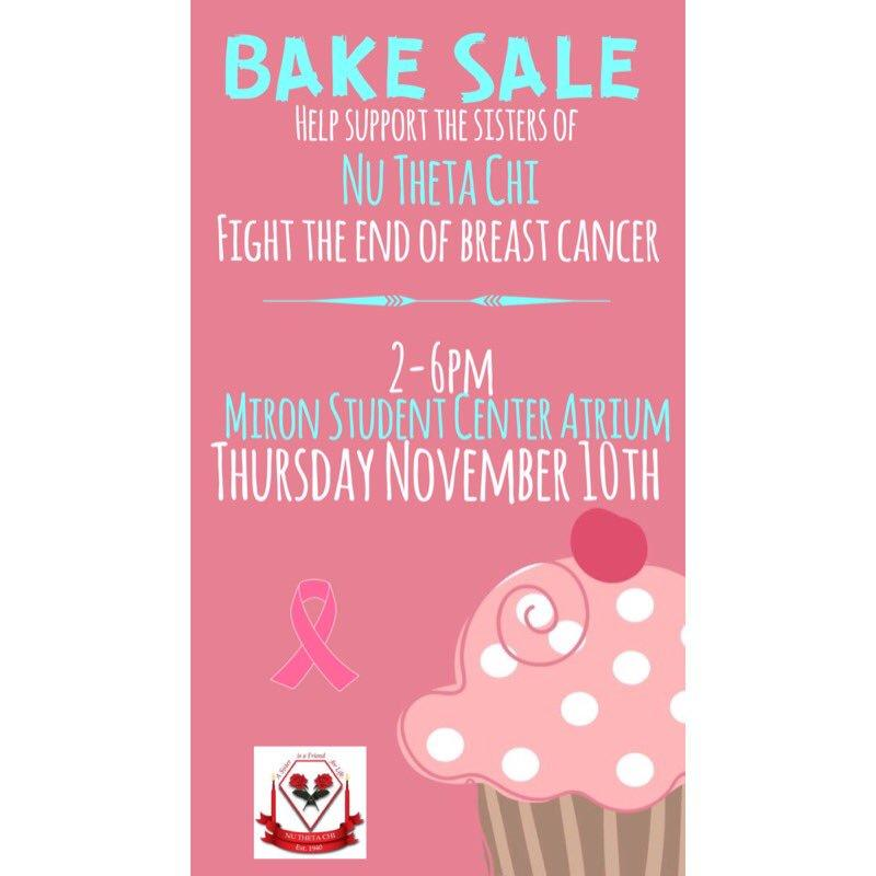 Breast Cancer Bake Sale Flyer Template