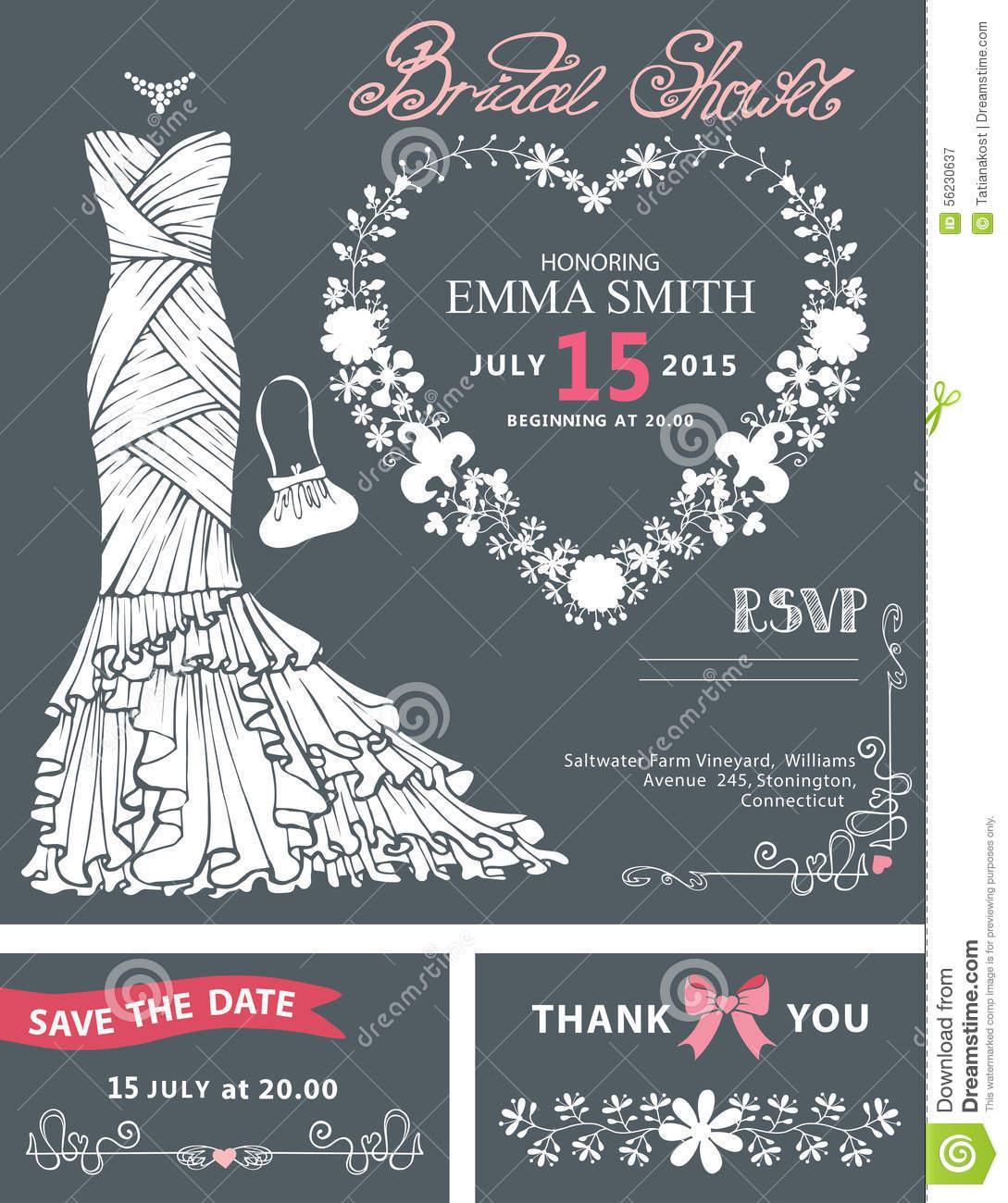 Bridal Dress Invitation Template