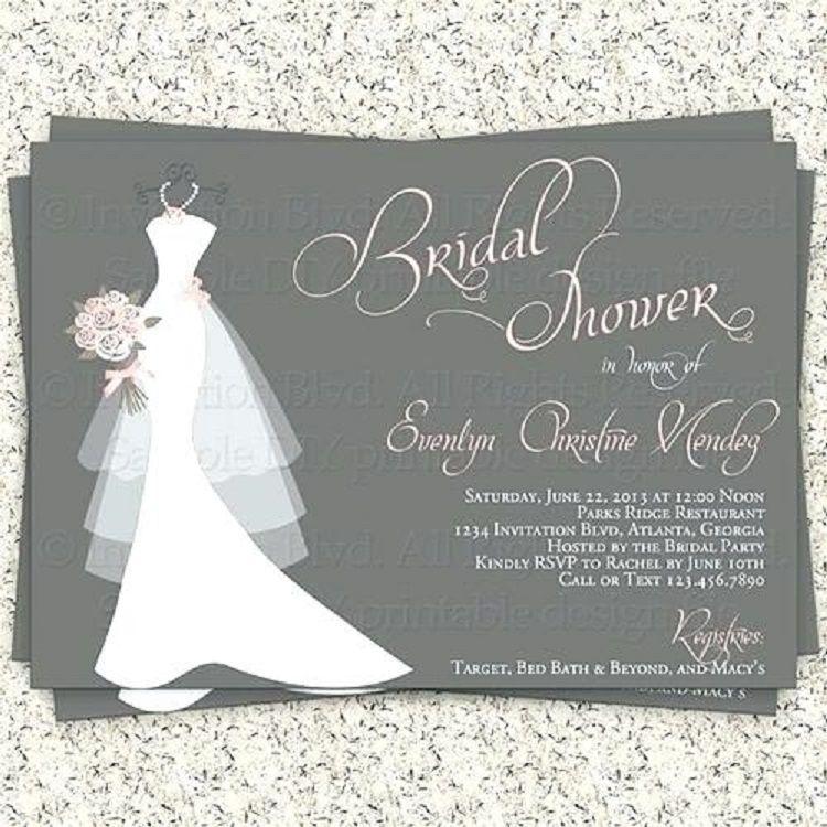 Bridal Invitations Templates Free