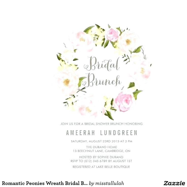 Bridal Luncheon Invitation Templates